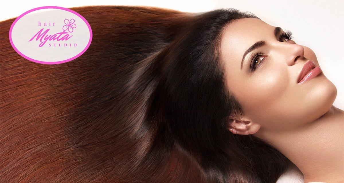 -80% на услуги для волос в салоне «Мята»