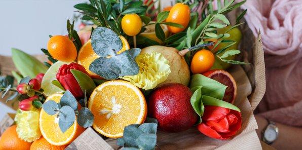 -20% на букеты и наборы из фруктов