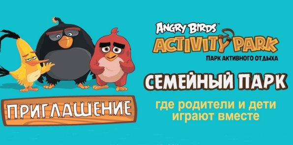 От 300 р. за билет в парк активного отдыха Angry Birds Activity Park