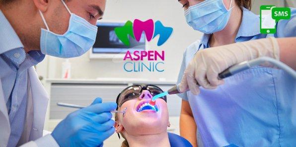 -70% от стоматологии «Аспен Клиник»