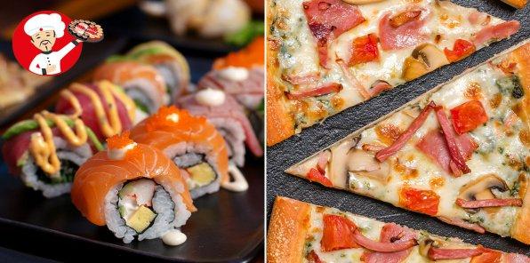 До -65% на роллы, суши и пиццу