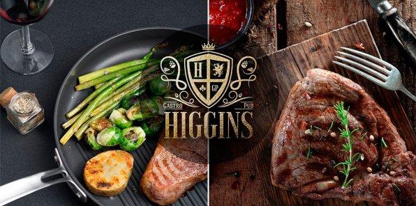 Скидка 50% на меню и напитки в Higgins Gastro Pub