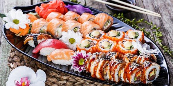 Скидка 55% на суши, роллы, салаты и супы в «Суши Восторг»