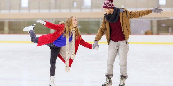 Скидка 50% на массовые катания на коньках
