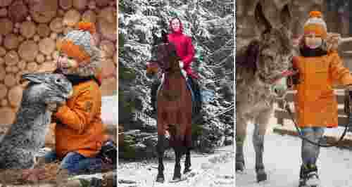 Скидки до 50% на конные прогулки и зоопарк на берегу озера