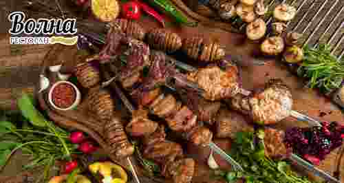 Скидки до 50% на меню и напитки в ресторане «Волна»