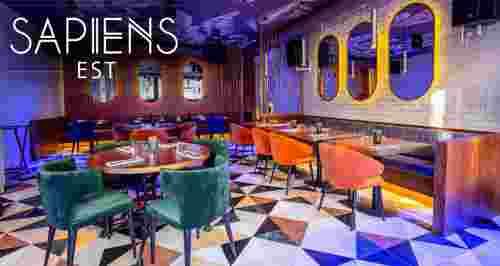 Скидки до 50% в ресторане Sapiens Est в центре Москвы