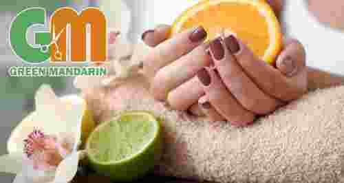 Скидки до 80% на услуги для ногтей в студии красоты Green Mandarin