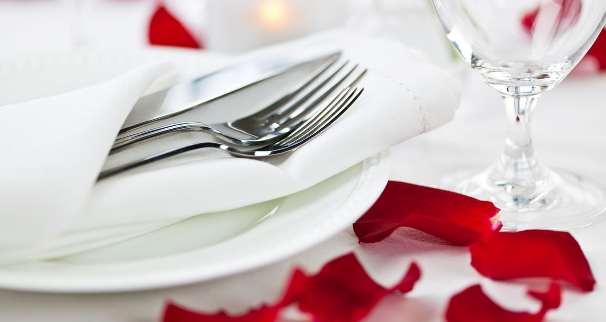 Романтический ужин для влюбленных
