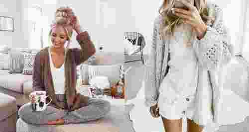 Как быть стильной даже сидя дома