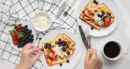 Вафли дома: венские, с яблоком, сыром и картофелем