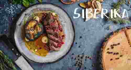 Скидки до 50% на все блюда и напитки от кафе Siberika