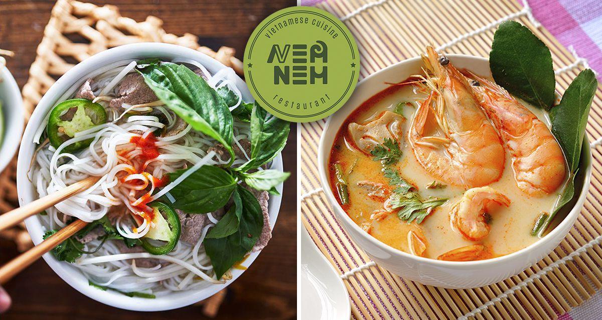 Скидки до 50% в ресторане вьетнамской кухни Nem Nem