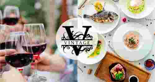 Скидки до 50% на меню и напитки в ресторане Vintage