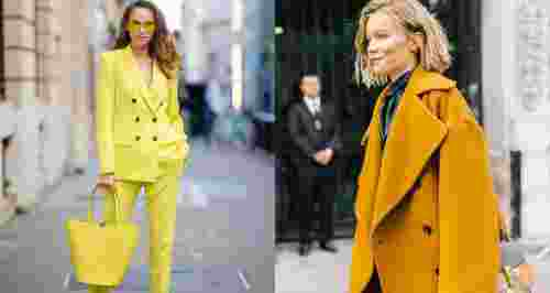 Как носить трендовый желтый цвет