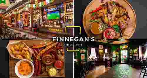 Скидка 30% на меню и напитки от Finnegan's Restopub на Спортивной