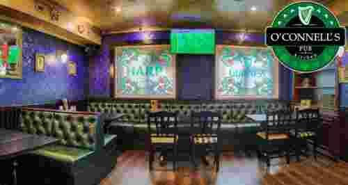 Скидки до 50% на меню и напитки в O'Connell's Pub