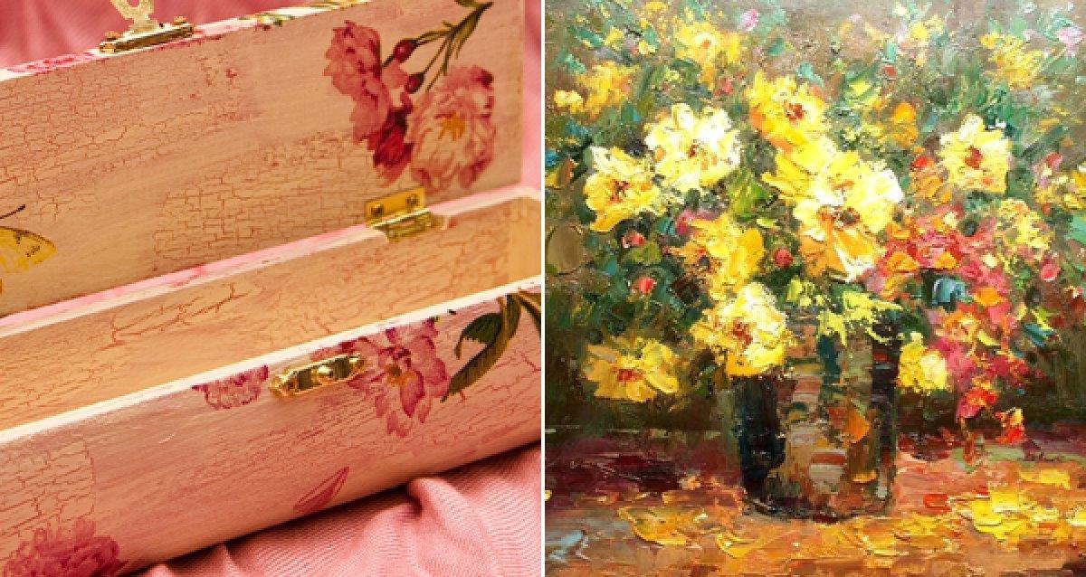 Уроки рисования масляными красками и обучение декупажу в студии живописи «Валенсия» со скидкой 55%