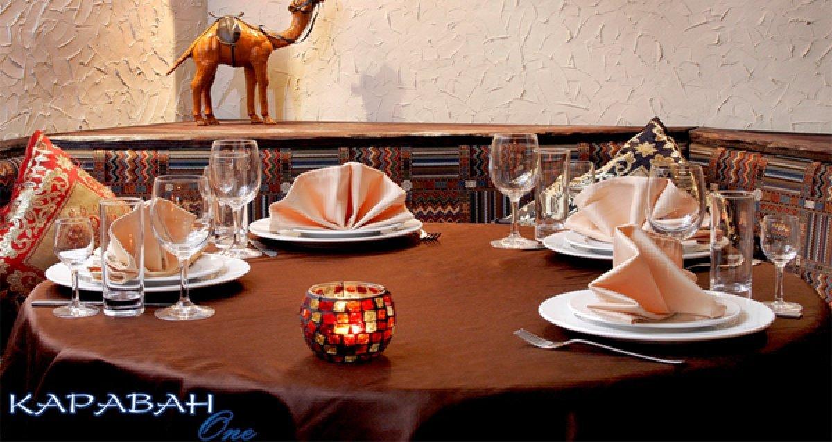 Восточное гостеприимство! Скидка 50% на все меню кухни, бара, суши-бара и пиццы в ресторане «Караван One»