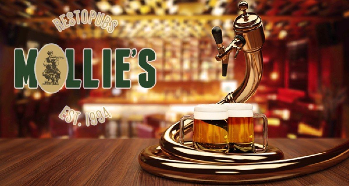 Ирландский паб на Невском пр-те! Скидка 50%  на все меню кухни и безалкогольные напитки в пабе Mollie's Mews