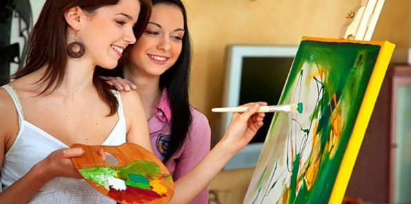 Научитесь создавать картины! 949 р. за мастер-класс эбру, скидки до 53% на рисование маслом, интуитивное рисование