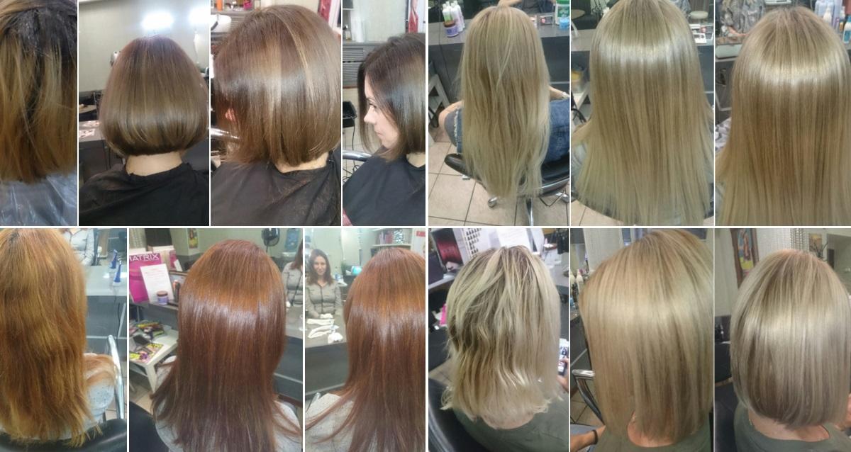 волосы до и после студии на Покровском бульваре