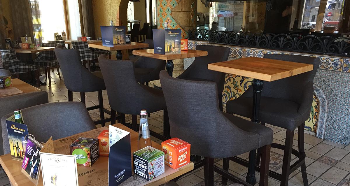 интерьер ресторана «Караван»