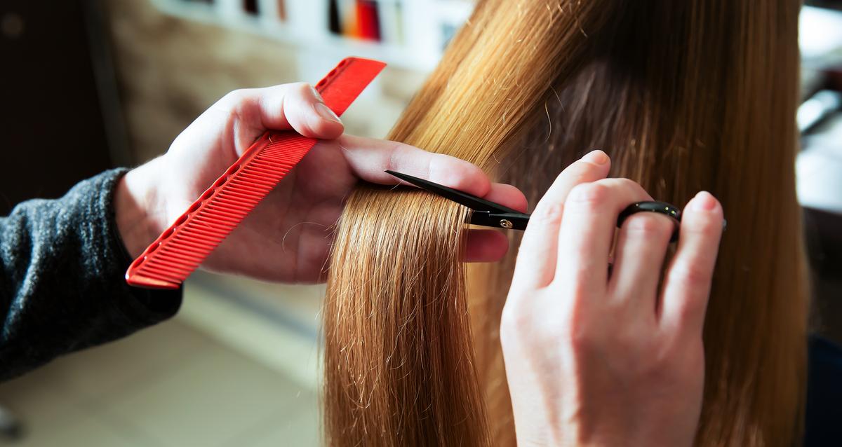 стрижка длинных волосы