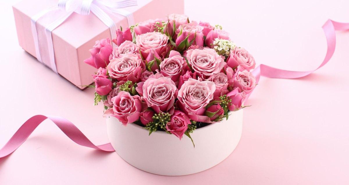 букет роз в коробке